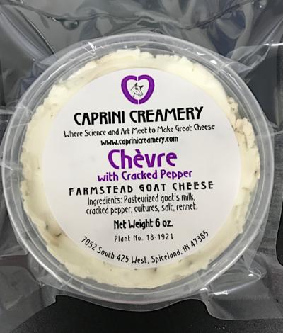 Buy Caprini Chevre Farmstead Cracked Pepper Goat Cheese Online