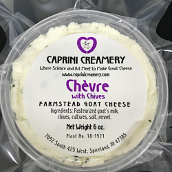 Buy Caprini Chevre Farmstead Goat Cheese With Chives Online